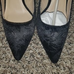 Cute Black Velvet heels